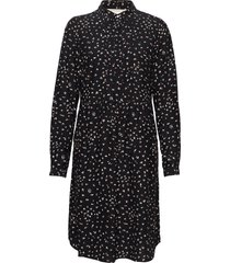 dress long sleeve jurk knielengte zwart noa noa