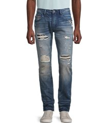 cult of individuality men's rocker slim-fit distressed jeans - blue - size 30