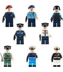 marine corps policeman coat special duties unit 8 pcs lego minifigure toys set