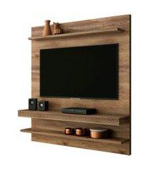 painel home suspenso para tv até 55 polegadas sala de estar web new canela - frade movelaria
