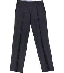 chino da uomo su misura, lanificio subalpino, blu scuro lana lino, primavera estate | lanieri