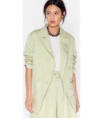 womens back to business relaxed blazer - mint