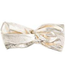 manokhi metallic-tone hair bow - gold