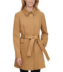 calvin klein single-breasted belted coat