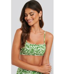 trendyol bikinitopp med volang - green