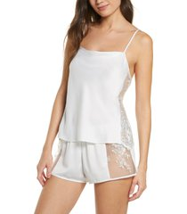 women's rya collection darling short pajamas, size large - ivory