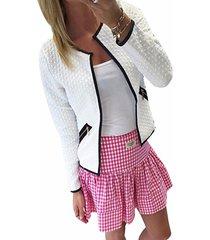 abrigo de manga larga con diseño de bolsillo