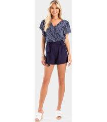 ingrid paperbag waist shorts - navy