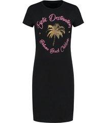 exotic destination tee dress