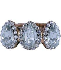 anel armazem rr bijoux mini gotas cristal feminino - feminino