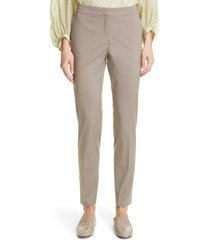 women's lafayette 148 new york manhattan slim pants, size 18 - grey
