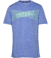 core graphic tee t-shirts short-sleeved blå mizuno