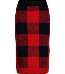 skirts knitted knälång kjol röd edc by esprit