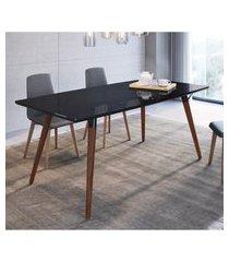 mesa de jantar retrô 4 lugares artesano valentinna 180cm preto
