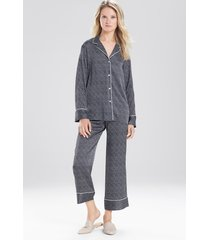 natori labyrinth pajamas, women's, black, size l natori