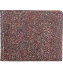 etro book paisley wallet 11x9