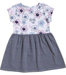vestido julia flores rayas