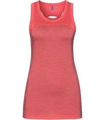 odlo ondershirt women suw top crew neck singlet natural + ceramiwool dubarry