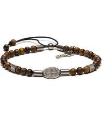 pulseira key design benedict silver masculino