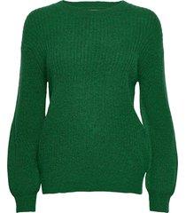 pzastrid pullover stickad tröja grön pulz jeans