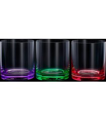 conjunto 6 copos baixos de cristal ecológico set-bar 310ml – linha favorit coloridos