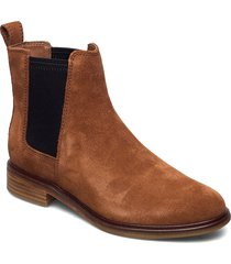 clarkdale arlo shoes chelsea boots brun clarks