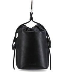 jil sander clutch bag with hook and drawstring