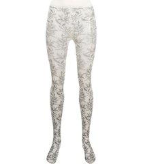 10 corso como botanical-print tights - neutrals