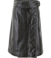 marni shiny faux leather skirt