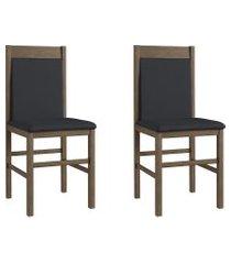 conjunto de cadeiras móveis canção 600 2 pçs madeira fosco