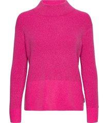 ls lurex mock neck sweater gebreide trui paars calvin klein
