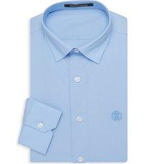 roberto cavalli men's slim-fit dress shirt - light blue - size 16 41