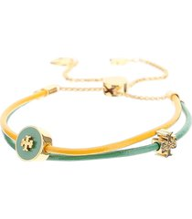 tory burch leather bracelet with slider