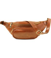 tuscany leather tl141797 marsupio in pelle miele