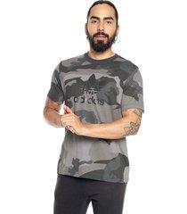 camiseta gris-negro adidas originals adidas originals