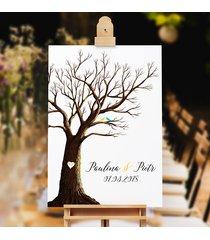 obraz na płotnie drzewo wpisów gości + 3 tusze