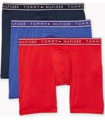 tommy hilfiger men's flx evolve stretch boxer brief 3pk red/purple/navy - m