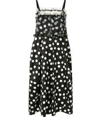 lee mathews cherry spot balloon dress - black
