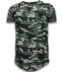 assorted camouflage t-shirt long fit camo chest pocket