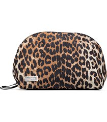 ganni leopard-print pouch - brown