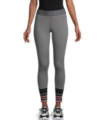 splendid women's stripped active leggings - grey - size xs
