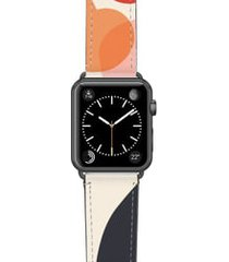 women's casetify cool beans saffiano faux leather apple watch strap