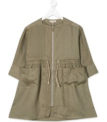 caramel paddington linen dress - green