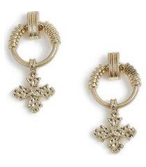 mens gold cross earrings*