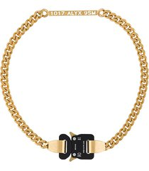1017 alyx 9sm chain-link buckle necklace - gold