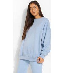 basic oversized sweater, pastel blue