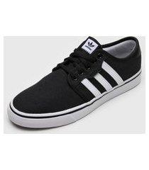 tênis adidas skateboarding seeley preto/branco