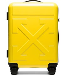 off-white arrows embossed suitcase - yellow