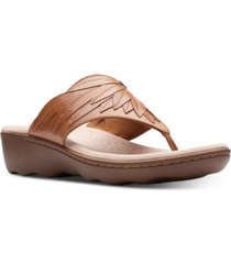 clarks collection women's phebe pearl thong sandals women's shoes