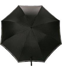 alexander mcqueen guarda-chuva com caveira - preto